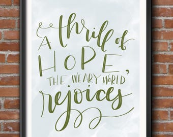 A Thrill of Hope - Christmas Digital Print