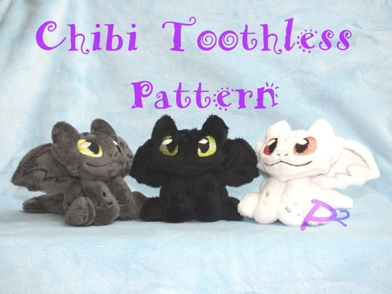 Pattern For Chibi Toothless Plush In The Hoop Pattern And