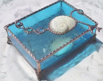 Abalone shell box Etsy