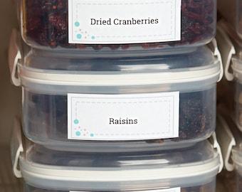 Pantry Labels, Kitchen Pantry Labels, Printable Labels