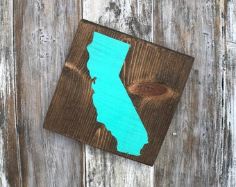 Mini State Sign, California Sign, Arizona Sign, Texas Sign, ANY STATE, Custom Sign, Home Decor, Home State Decor, Los Angeles, Orange County