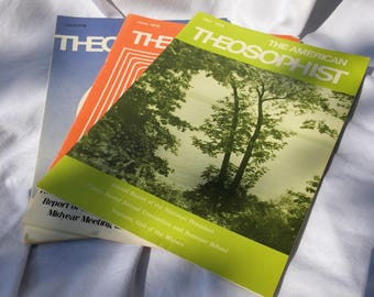 The American Theosophist Magazine - Collection of 3