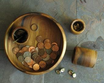 Mens wood valet Wood catchall nightstand tray Valet tray Vanity tray Wood tray Gifts for men Desk organizer Dresser catchall Dresser valet