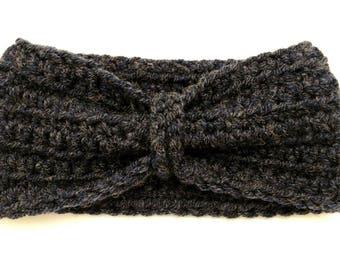 Child's Crochet Bow Ear Warmer