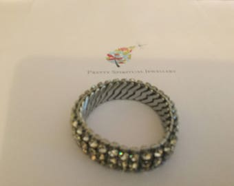 Gorgeous Vintage Expander diamente bracelet. Empire style.