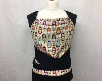 """Baby carrier, Mei Tai (18"""" x 18""""), Bei Dai, baby sling, tie carrier, new mum gift, baby shower, bespoke, patterned, russian dolls"""