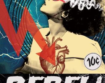 REBEL! Classic Horror Series: The Bride of Frankenstein Sticker