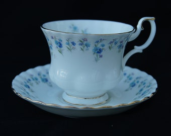 Royal Albert Memory Lane Footed Teacup and Saucer