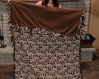 Customized tie blankets *for every tie blanket ordered another one will be made & donated to a homeless shelter*