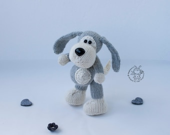 Small Doggy. Amigurumi dog toy. PDF instant download. Knitting pattern. Knitted round. PDF pattern. Softie Dog. New 2018 Year. Softie doggie