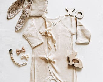 Organic Baby Clothes ,Organic Baby Bodysuit, Organic Baby Romper, Kimono Bodysuit,  Long Sleeve Bodysuit, Long Sleeve Romper, Newborn Romper
