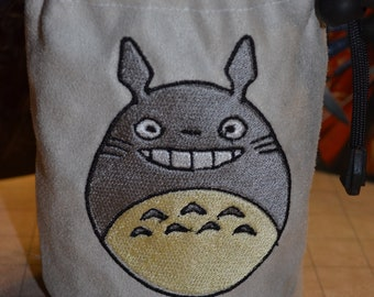 Dice Bag My Neighbor Totoro Embroidered suede