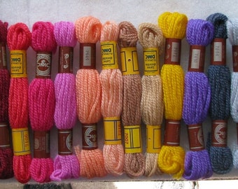 100 Skein Lot DMC Wool Needlepoint/Crewel Yarn #304