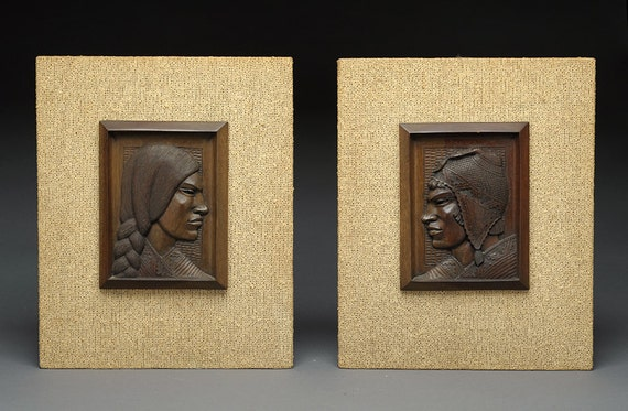 1950\'s Wood Carving Wall Art