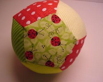 Ladybug Patchwork Plush Ball