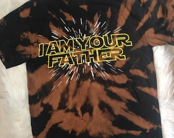 Star Wars Bleached I Am Your Father Adult Medium T-Shirt