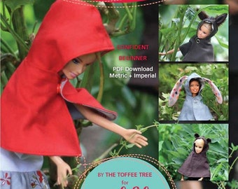 Lil Red Capelet and Furry Friends Hoods doll pattern barbie