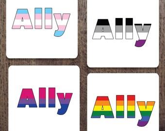 LGBT ally Coaster Set