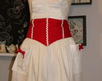 Mary Poppins White  apron