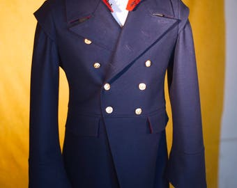 """Hooded """"Devil Tail"""" Military Greatcoat"""