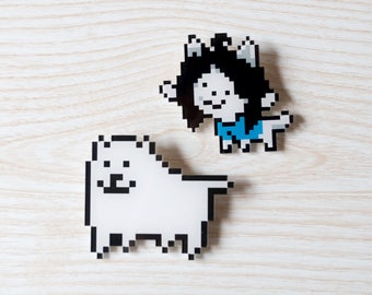Undertale: Temmie, Annoying Dog and Sans Acrylic Badges