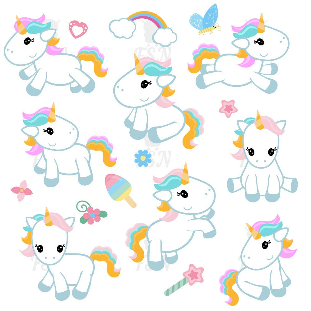 cute unicorn clipart cute unicorn clip art unicorn digital rh etsy com unicorn clip art free images unicorn clipart images