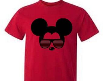 Disney Shirt / Boys Disney Shirt / Mickey with Sunglasses  / Mickey Mouse Shirt / Boys Mickey Mouse Shirt / Kids Mickey Shirt / Kids Disney