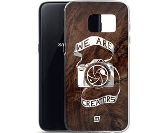 We Are Creators [Wood Grain] - Samsung Smart Phone Case for Photographers, Creators, Videographers, and Film Makers