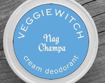 Nag Champa - Veggiewitch Cream Deodorant - All Natural - Vegan & Organic