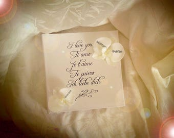 LOVE orchids like to customize wedding guestbook