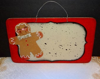 Gingerbread Sign For Personalizing,, Gingerbread Decor, Wall Decor, Door Decor, Home Decor,,
