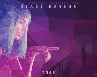 Blade Runner 2049, Joi - A3 Edition - unique poly art digital print