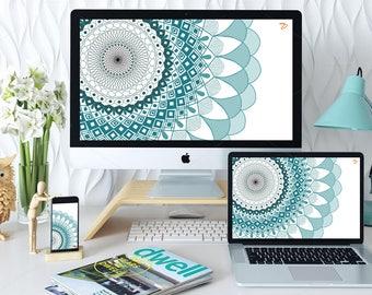Mandala HD Wallpaper Combo for Desktop and Phone