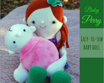 Baby Perry - a fleece doll to sew, with easy to follow instructions and step-by-step photos