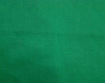 Vintage Green Poplin Fabric by the yard - 36 inches long  x 44 inches wide