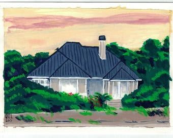 Kiawah Sunrise - Original - 4.5x6
