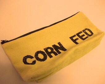 Vegan Corn Fed Zipper Pouch