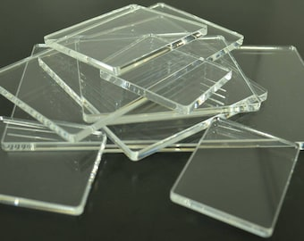 Acrylic Perspex Blocks Pads For Clear and Unmounted Stamps Various Sizes