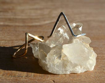 A R R O W S  /|\  Gold Sterling Silver Arrow Stacker Rings
