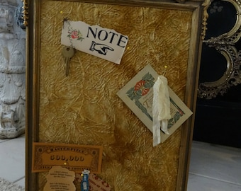 Vintage Framed Memo Board Shabby Cottage Chic