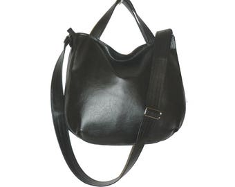 5633, black crossbody bag, black hobo crossbody bag, black hobo bag, vegan leather crossbody bag black, vegan black crossbody bag, vegan bag
