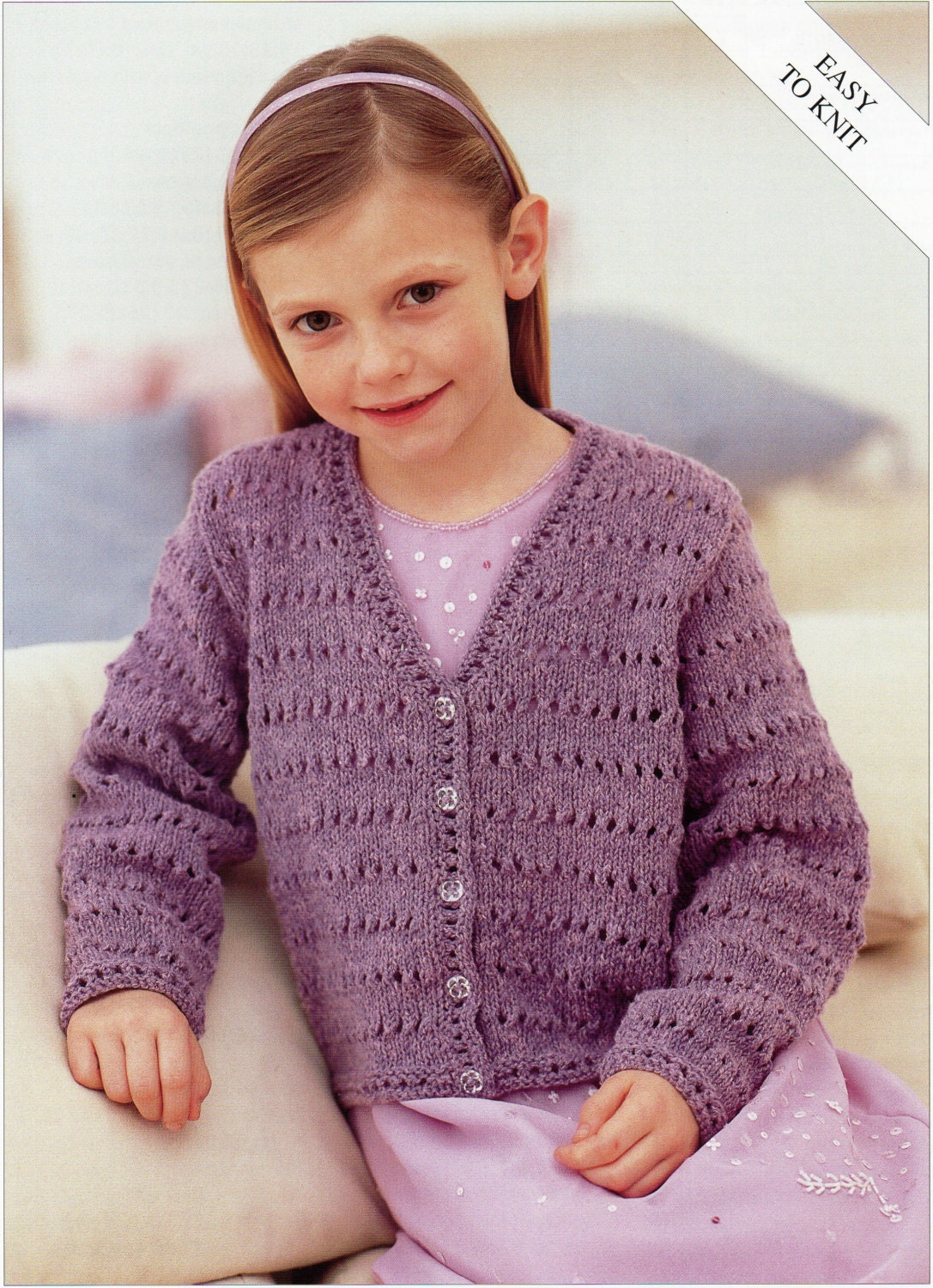 Girls Knitting pattern Girls Cardigan Childs Cardigan Easy ...