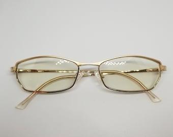 Vintage Cazal Gold Eyeglasses Frames