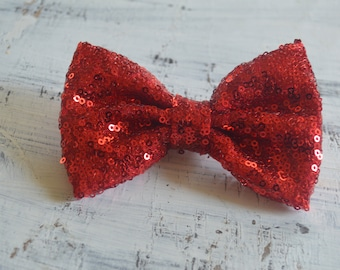 Sparkly Red Sequin Valentine's Classic Hair Bow
