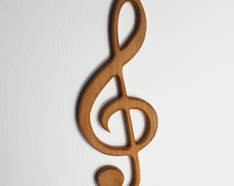Wooden Decoration | Treble clef for hanging