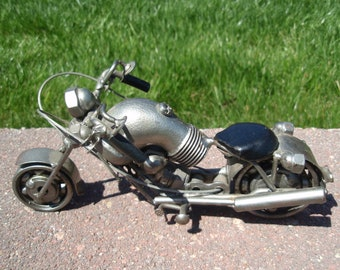 Metal Art Motorcycle Cool Collectible Harley Rider a2663