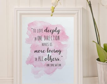 Anne Swetchine Quote, Digital Download, 8 x 10 Print, Motivational Quote, Typography Print, Typography Art, Love Quotes, DIY Wall Print