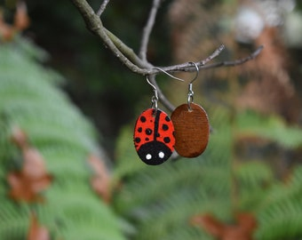 Lady Bug Statement Earrings
