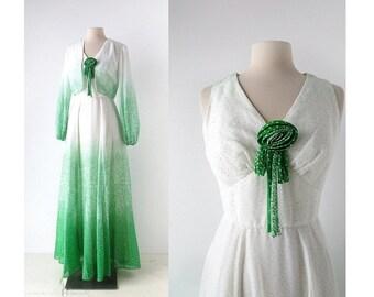 1970s Maxi Dress | Miss Elliette Dress | Dress with Jacket | XS