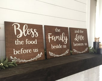 Bless The Food Before Us Family Beside Dining Room Decor Large